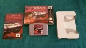 N64 TOP GEAR RALLY BOXED AND COMPLETE!