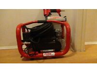Clarke air compressor 5 ltr +air hose + clarke air nailer