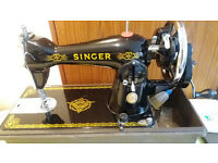 antique singer sewing machine fully working
