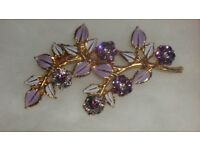 Charming flower and leaf brooch in box