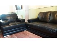 Excellent condition real leather sofa 3+1.