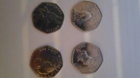 Old & new beatrix potter 50p coins