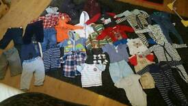 Large bundle of baby boys 9-12 months clothes coat sleepsuits