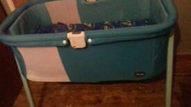 Chicco crib in jazz green perfect condition £50
