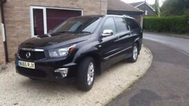 Ssangyong Korando Sports Pickup 2.0 TD EX 4dr 4wd automatic low milage full service history NO VAT