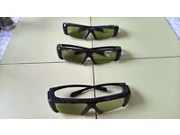 3d tv Samsung active glasses x 3