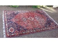 2x Persian style wool rugs good or excellant condition