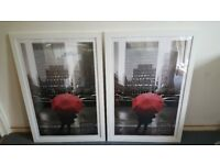 2 x Large White Picture/Poster Frames
