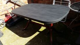 wooden dinning table( top painted black)