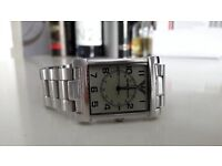 MENS ARMANI STAINLESS STEEL WATCH VERY GOOD CONDITION FIRST £35
