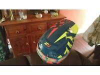 Moto x helmet with oakley goggles medium size