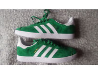 Adidas Gazelles Green Unisex UK Size 8