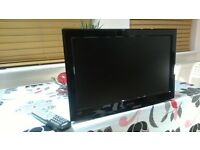 """TV 19"""" with Built in DVD - HITACHI with Bracket and remote control"""