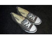 Converse Dance Ladies UK Size 5 Grey Slip On Trainers