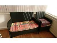 Wicker sofas