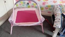 Pink mini trampoline