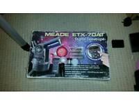 Meade etx 70 telescope and tripod