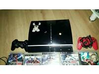 Ps3 console with bundle of games £100 PICK UP ONLY!!!!