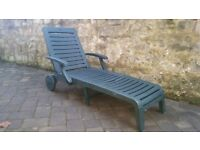 Garden Furniture - Two recliners and a sun lounger, great condition, perfect working order