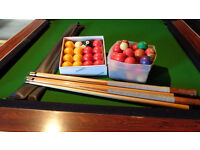 Pool cues and balls