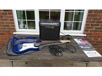Guitar bundle - Yamaha Pacifica 012 Dark Blue Metallic with Line 6 Spider 3 amplifier and essentials