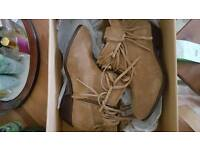Suede fringe boots