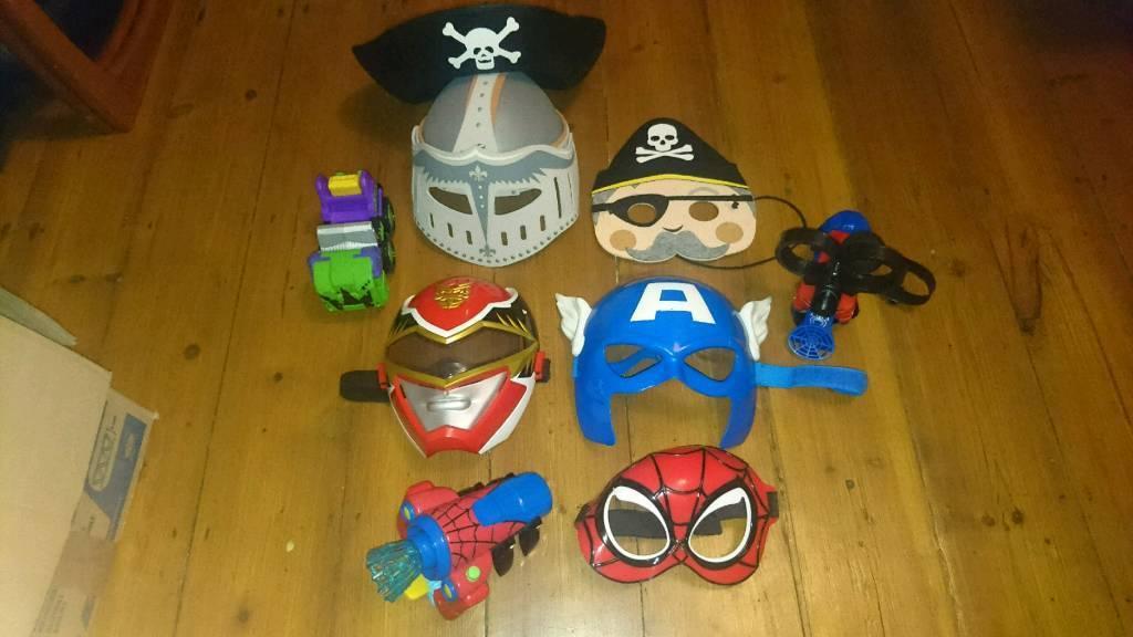 Kids masks and spider man Web blasters