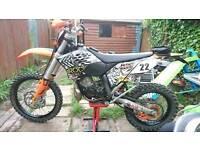 Ktm 200 exc 09 model 97kg mot october quick sale needed road legal enduro