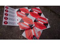 5x Shockwatch L-47 Shock Impact Detecting Handle with Care Stickers Labels