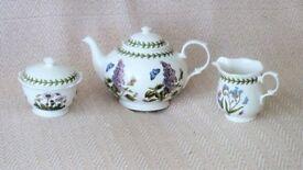 PORTMEIRION BOTANIC GARDEN 3 PIECE TEA SET