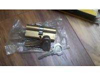 Upvc door lock barrel with 3 keys