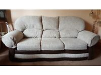 Brand new 3 seat beige and brown sofa - reduced for quick sale!