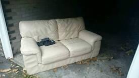 Leather 2 seater sofa.
