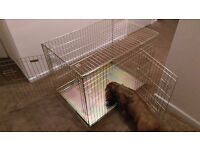DOG CAGE SUITABLE FOR MEDIUM SIZED DOG.