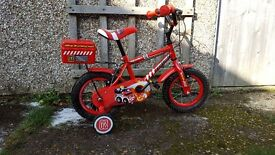 "Boys 12"" Bike Apollo Firechief Age 3-5"