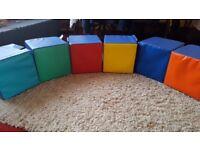 set of 6 cube soft seats