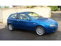 Alfa Romeo 147 t-spark lusso 1.6 petol 3 door in Dijon Blue