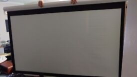 """Very Large Projector Screen 90"""" Plus brackets + ceiling mount"""