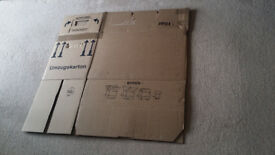 13 heavy duty cardboard moving boxes (freight forwarding business)