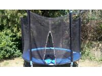 8 ft trampoline with netting