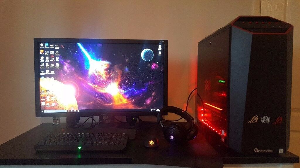 GAMING SETUP 144HZ MONITOR 1080TI | in Chepstow, Monmouthshire | Gumtree