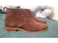 New men's suede boots: size 9/43