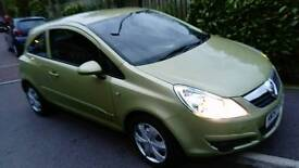 Vauxhall Corsa Club, 1.4 petrol, Automatic, 3 door hatchback, 2008 in Tea green. Only 25,000 miles!!