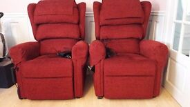 Repose tilt and recline chairs. These chairs are over 1 yr old and cost over a £1000 each.