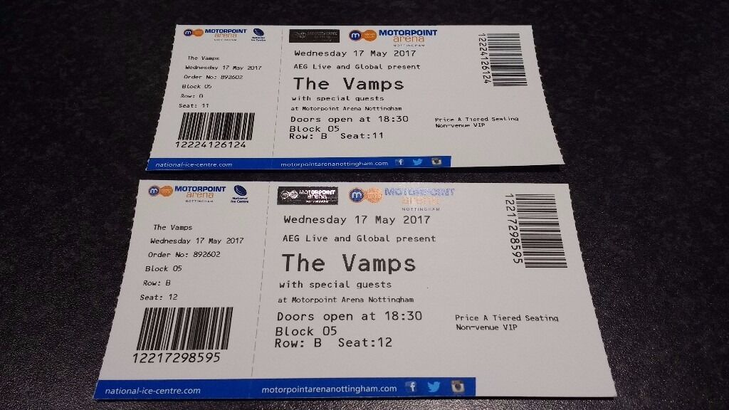 The vamps vip concert tickets nottingham great seats in newark the vamps vip concert tickets nottingham great seats m4hsunfo