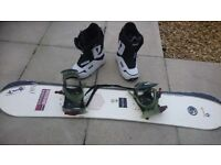 Morrow rail snowboard boots and bindings