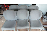 12 GREY OFFICE OR WORKSHOP CHAIRS