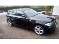 Black BMW 116 sport 2.0 litre petrol. Low mileage 58000 - 1 owner. A1 condition.