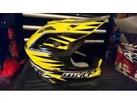 Motocross bike helmet