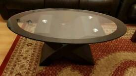 Glass Black Coffee Table **Reduced!**